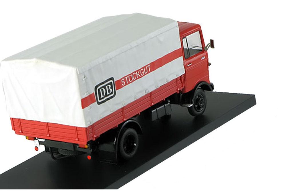 Schuco 03531 1 1 1 43 mercedes LP 608 DB (remolques with the tent) 1970 10d683