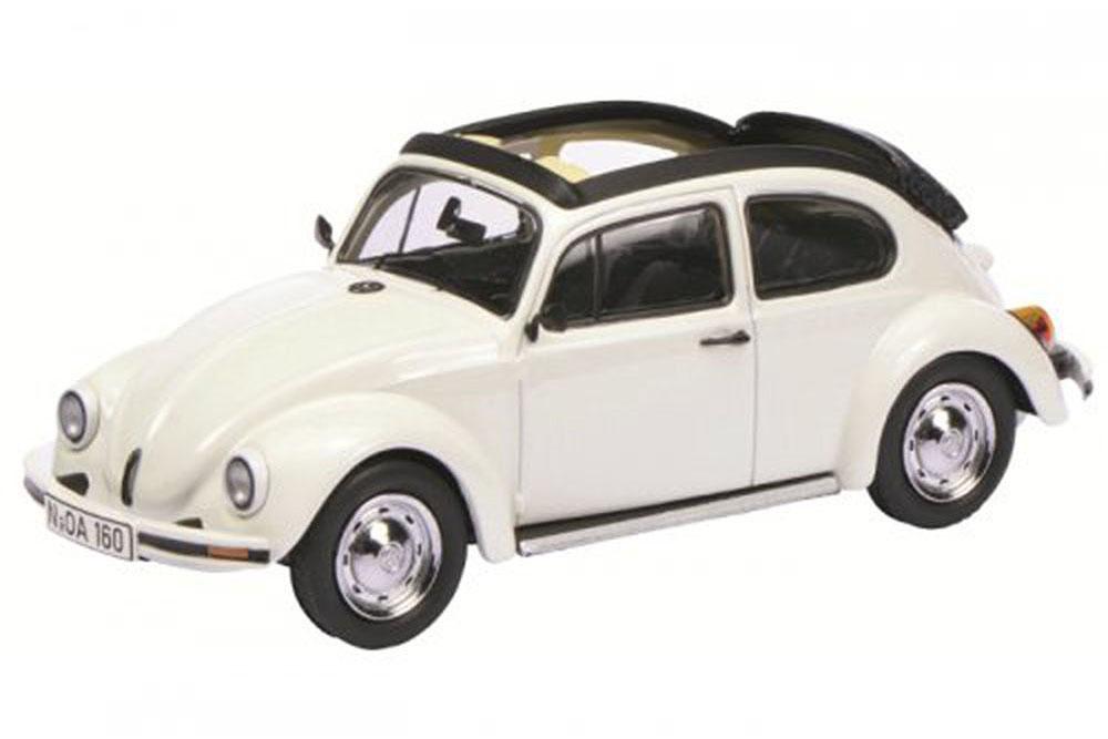 Schuco 03879 1 43 VW VOLKSWAGEN  BEETLE 1600I OPEN OPEN OPEN AIR 1996 WHITE ba0469