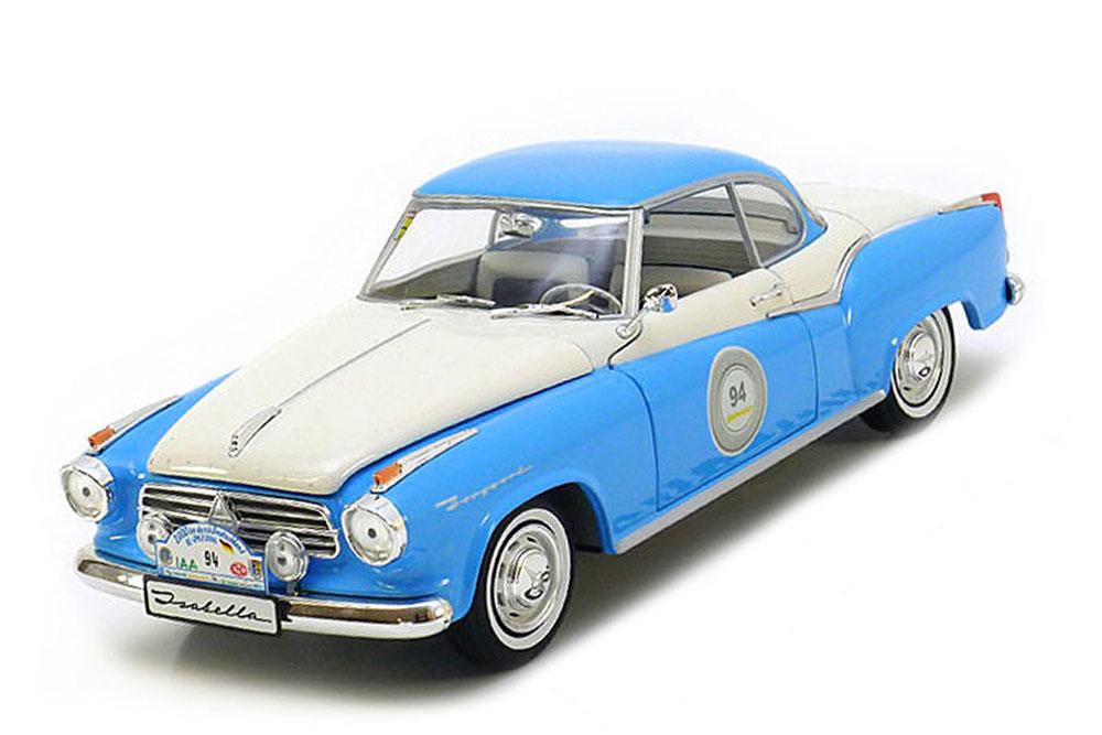 Revell 08466 1 18 Borgward Isabella Coupe racing 1957 Light blu bianca