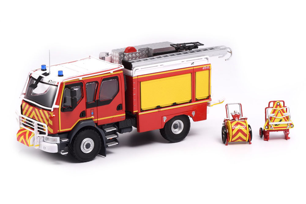 ELIGOR 115942 1 43 Renault double cabine d14 4x4 CCR biiring DECALQUES (firefight