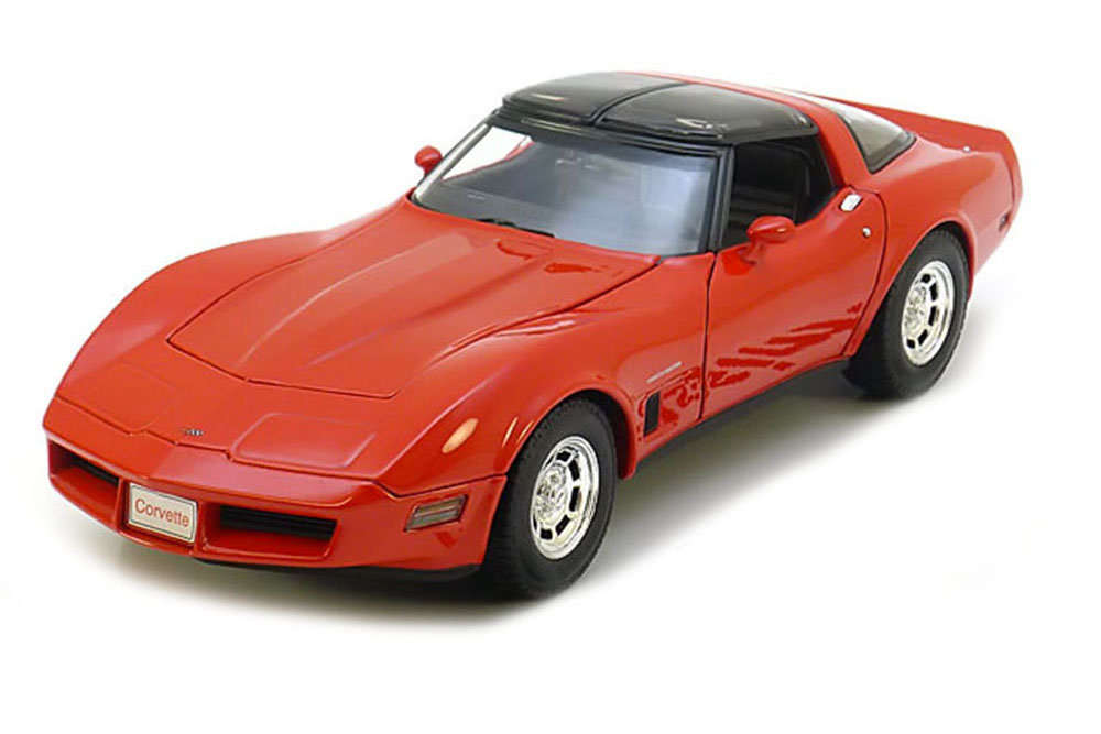 Welly 12546R 1:18 CHEVROLET CORVETTE C3 COUPE 1982 RED