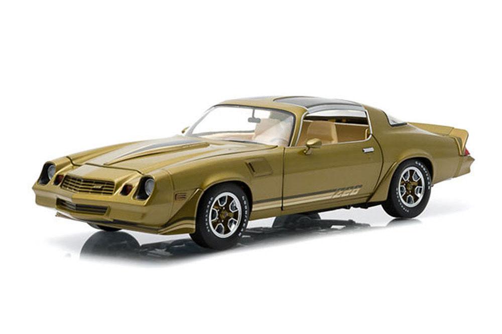 verdeLight 12907 1 18 Chevrolet Camaro z28 1981 oro metalizado