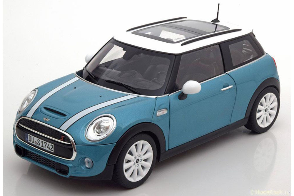 NOREV 183111 1 18 Mini Cooper S 2015 electric bleu metallic blanc