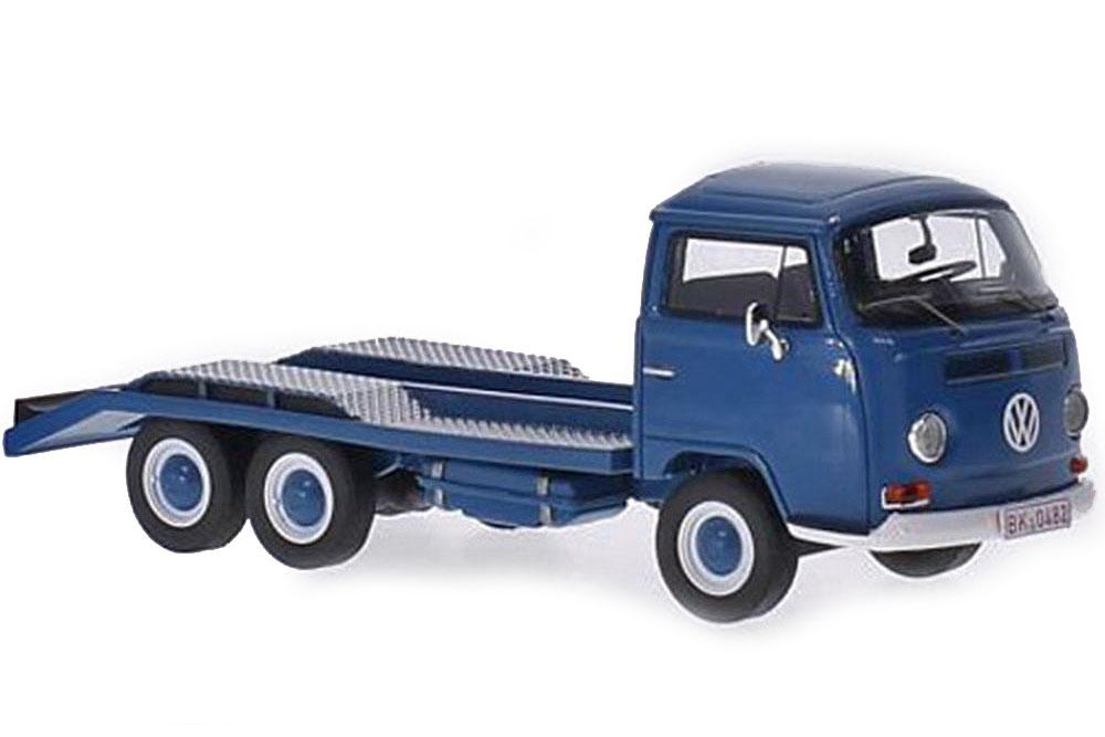 Premium ClassiXXs 18410 1 43 VW Volkswagen t2a car transport 1967 bleu