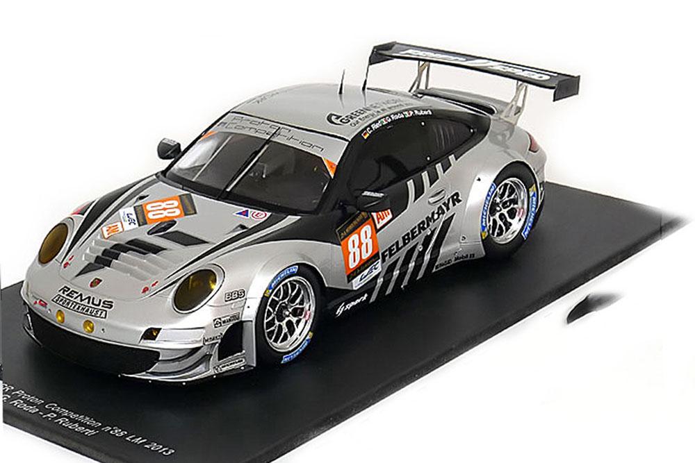 SPARK 18s106 1 18 PORSCHE 911 (997) gt3 rsr  88 Le Mans 2013 Ried RODA Ruberti