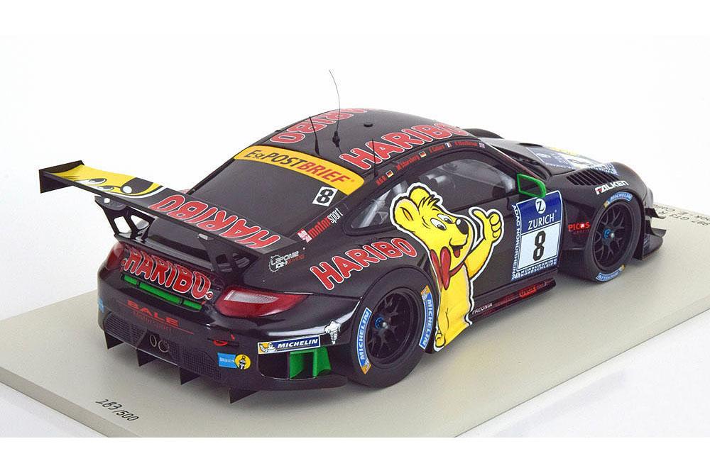 Spark 18SG008 1 18 PORSCHE 911 (997) GT3 GT3 GT3 H NURBURGRING 2013 HARIBO WESTBROO 1a06ba