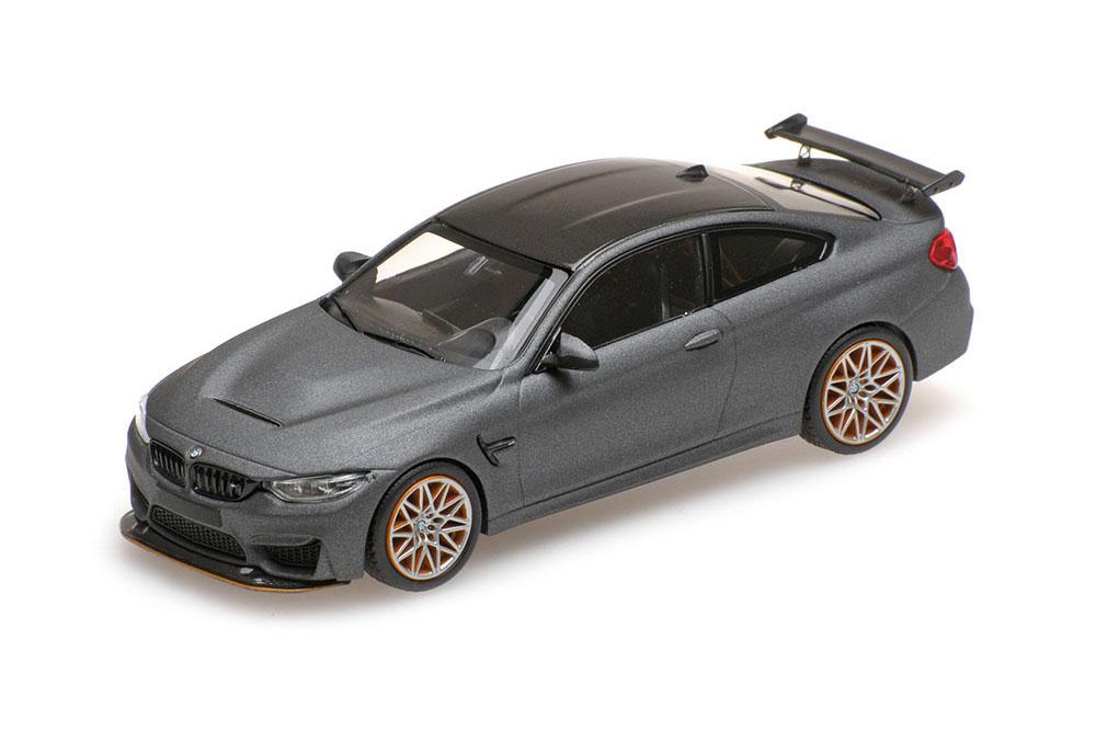 Minichamps 410025220 1 43 BMW M4 GTS 2016 Matt Grey orange Wheels