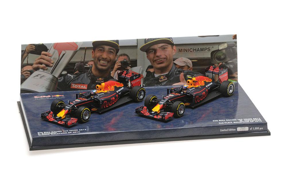 nuevo listado Minichamps 472163303 1 1 1 43 rojo Bull Racing (2-Coche set) Tag Heuer rb12 Ricciardo V  sin mínimo