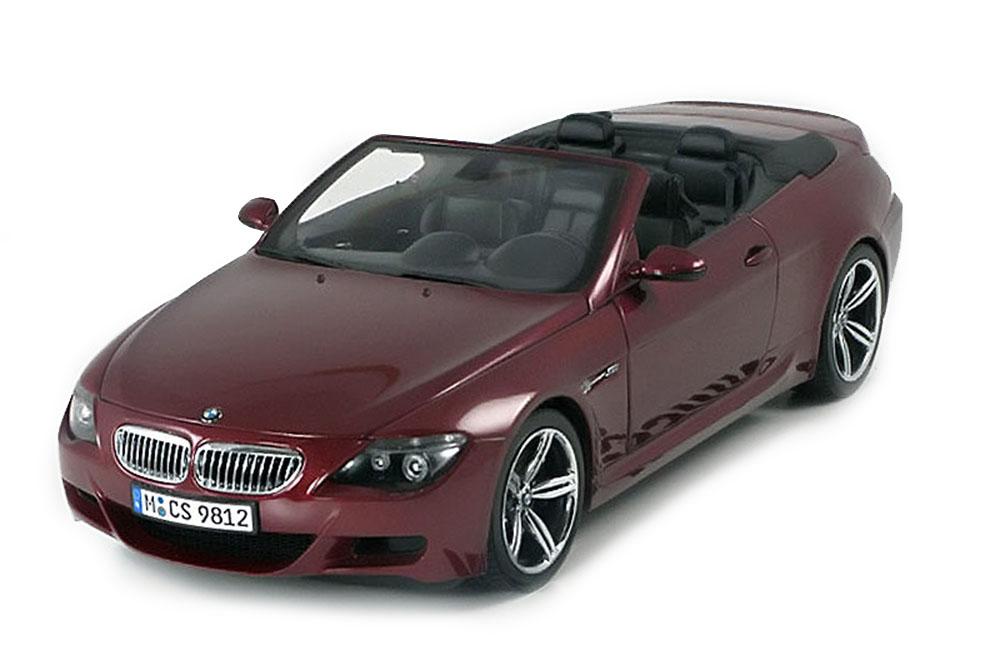 Kyosho 80430417423 1 18 BMW e64 m6 Cabriolet 2005 Dark rouge Metallic