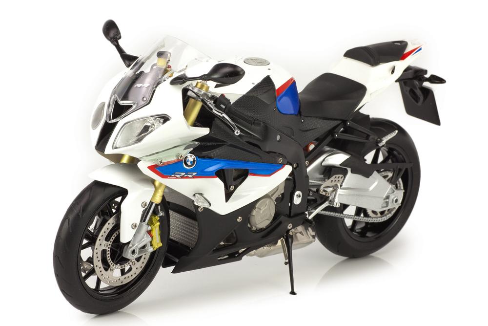Schuco 80432222495 1  10 - bmw s 1000 rr k46 motorrad 2013 alpine weiße   lupine Blau -