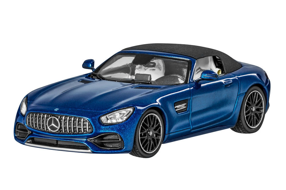 Norev b66960407 1 43 mercedes r190 AMG GT roadster 2019 Brilliant blu metallic