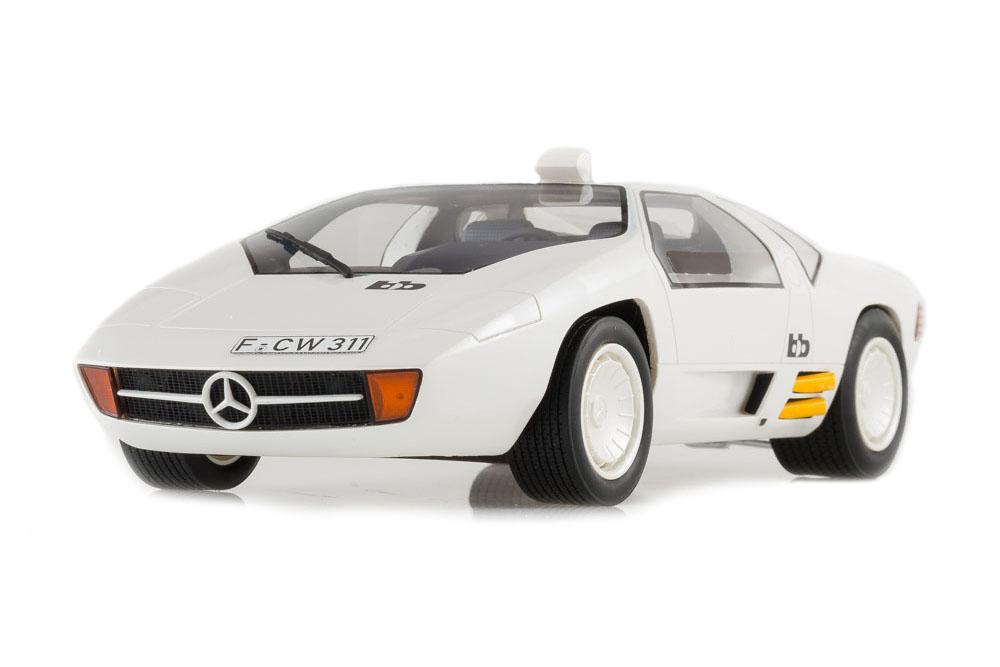 Bos bos198 1 18 mercedes bb CW 311 1978 metalizado blanco