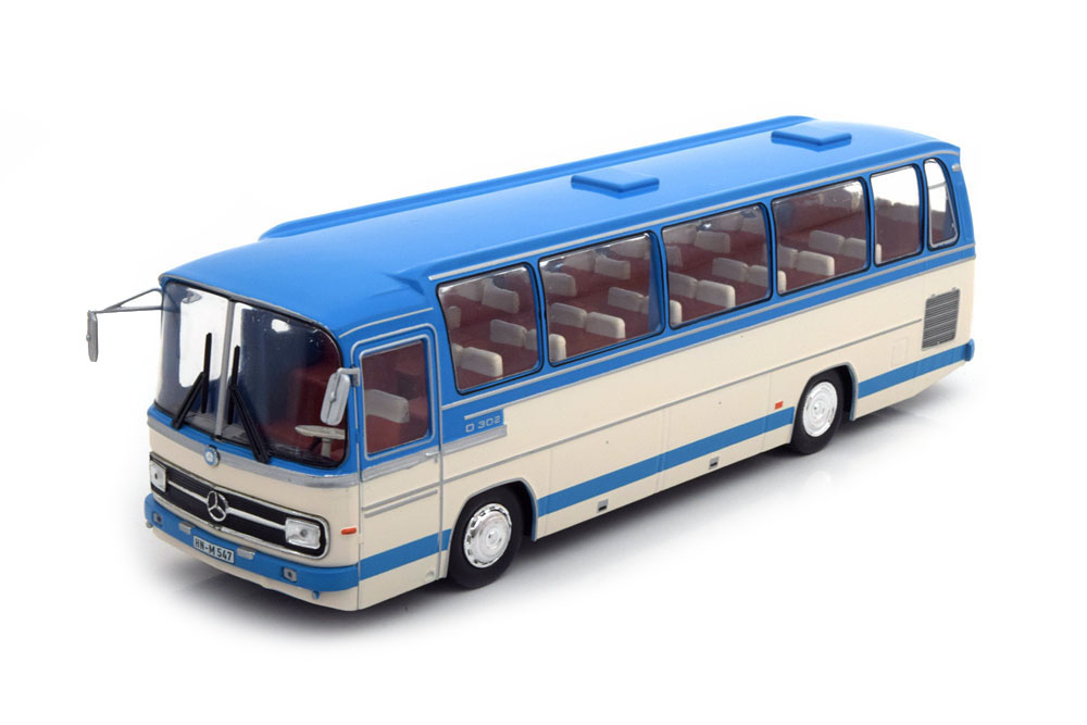 MERCEDES O302-10R 1972 LIGHT BLUE/BEIGE - MODELLISIMO COM