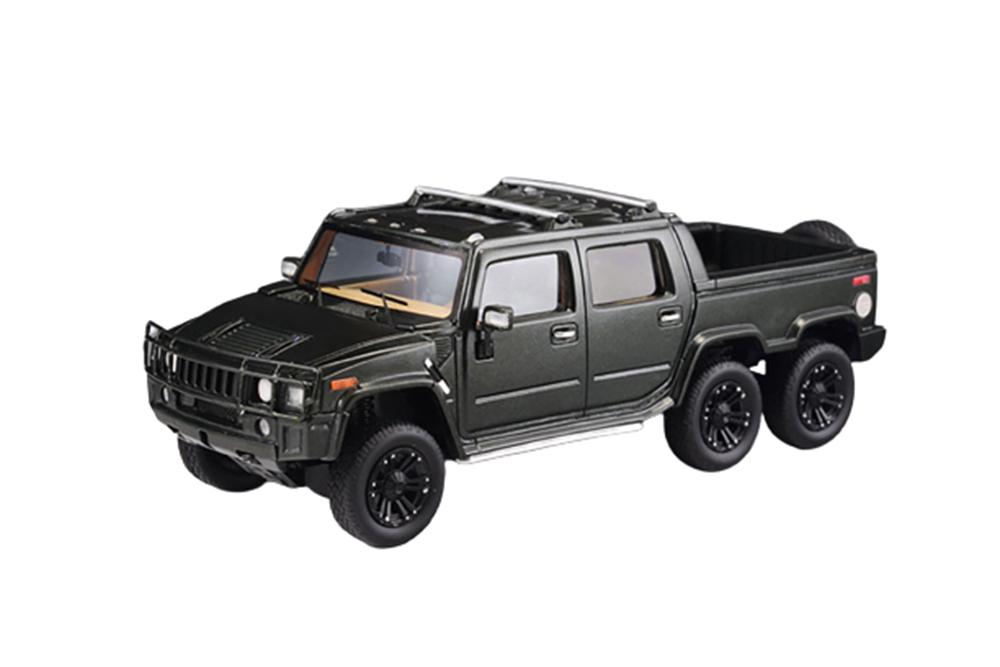 Hummer H2 Sut6 Pick Up 6x6 2012 Black Modellisimo Scale Models