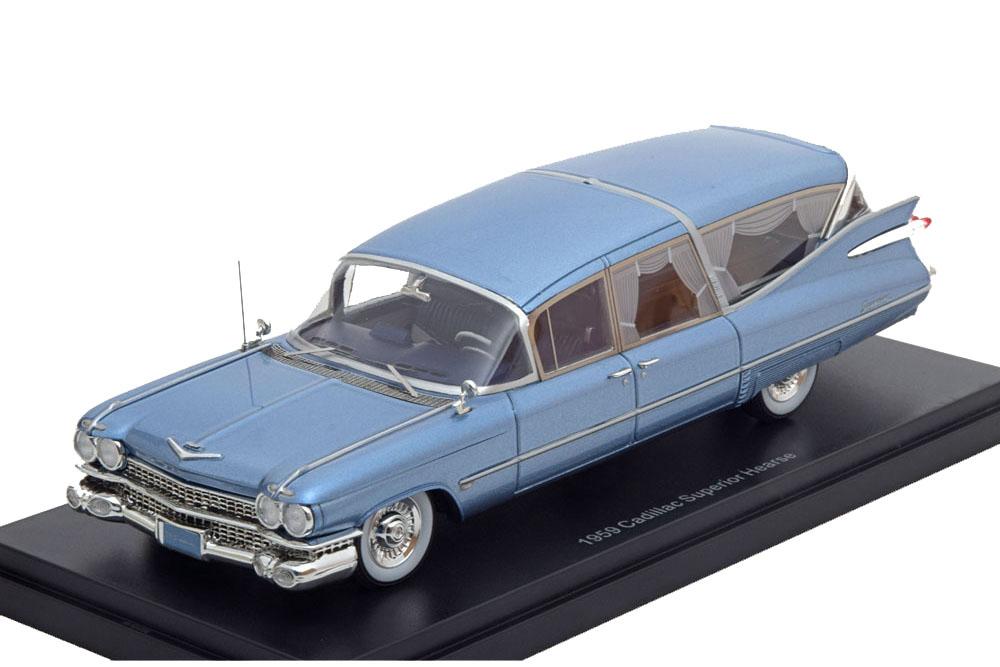 NEO neo45261 1 43 illac s&s Superior Hearse 1959 Metallic Light bleu