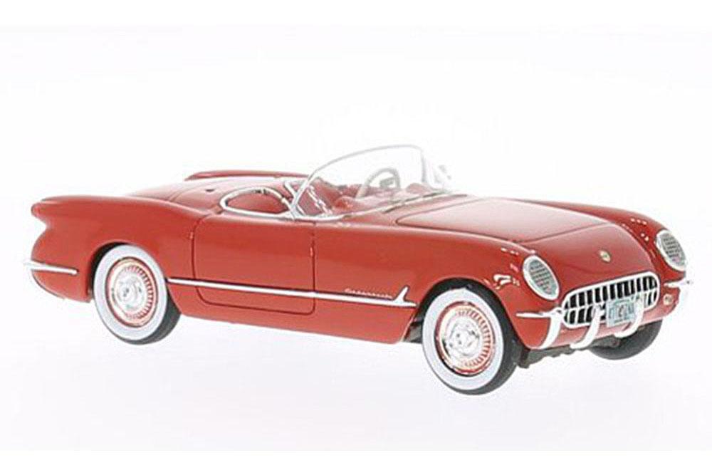 Neo neo45745 1 43 Chevrolet Corvette c1 converdeible 1953 rojo