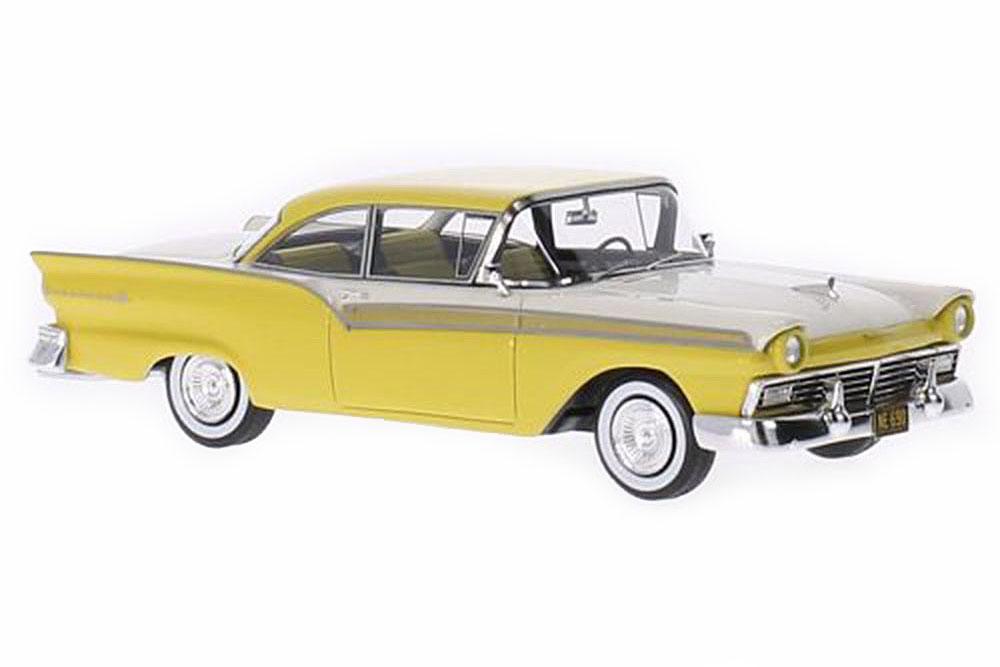 NEO neo46090 1 43 Ford Fairlane 500 Rigide Coupe 2-Door 1957 jaune blanc