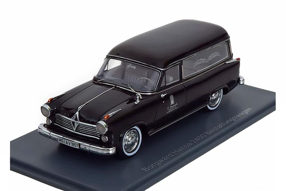 Neo NEO49520 1 43 Borgward Hansa 2400 Rappold Hearses 1955 Black