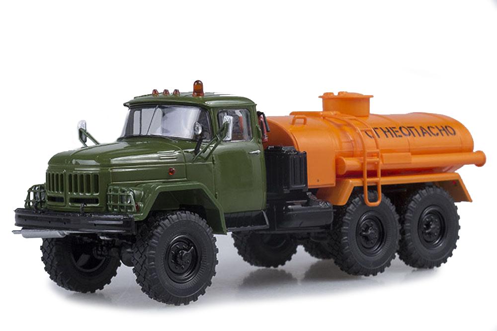 SSM ssm1056 1 43 ZIL 131 ats-40 kaki Orange (USSR Russian Car)