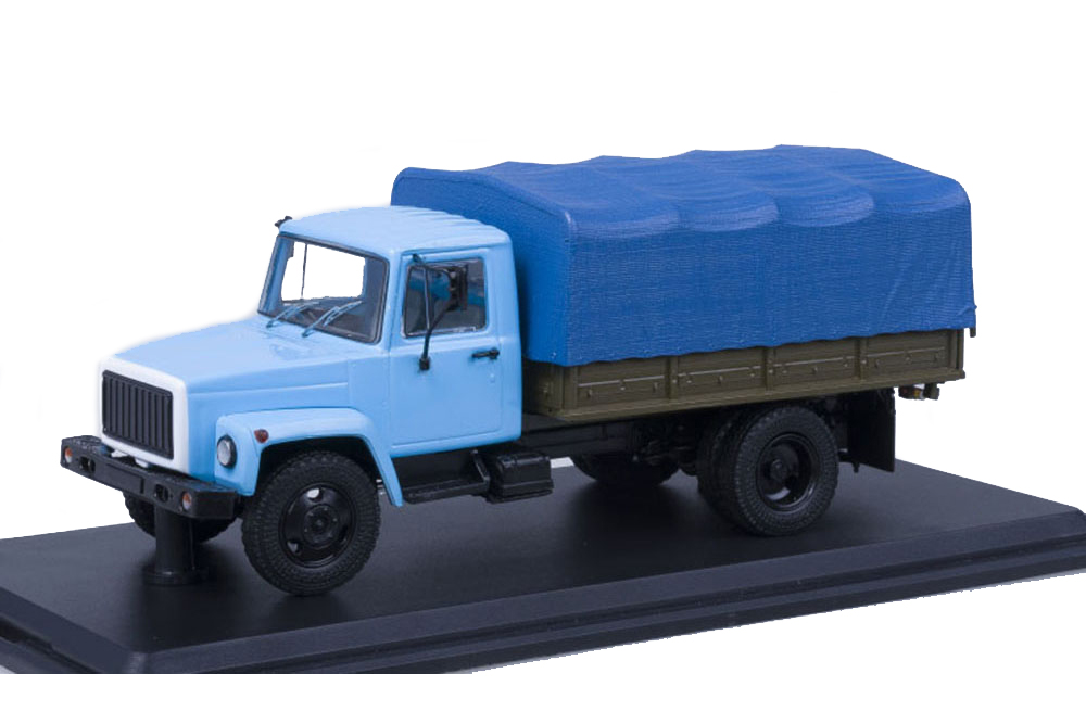 SSM ssm1152 1 43 GAZ GORKI - 33073 movig zmz-513 Cargo Taxi (USSR Russian Car)