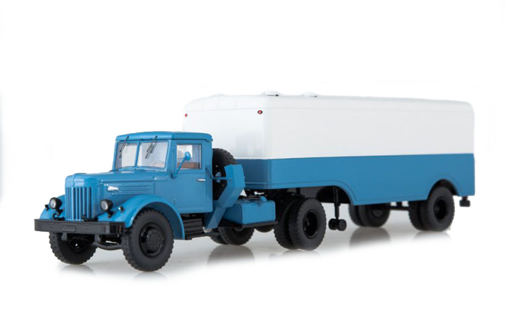 SSM ssm7018 1 43 maz-200v with maz-5217 semi-trailer (USSR Russian car)