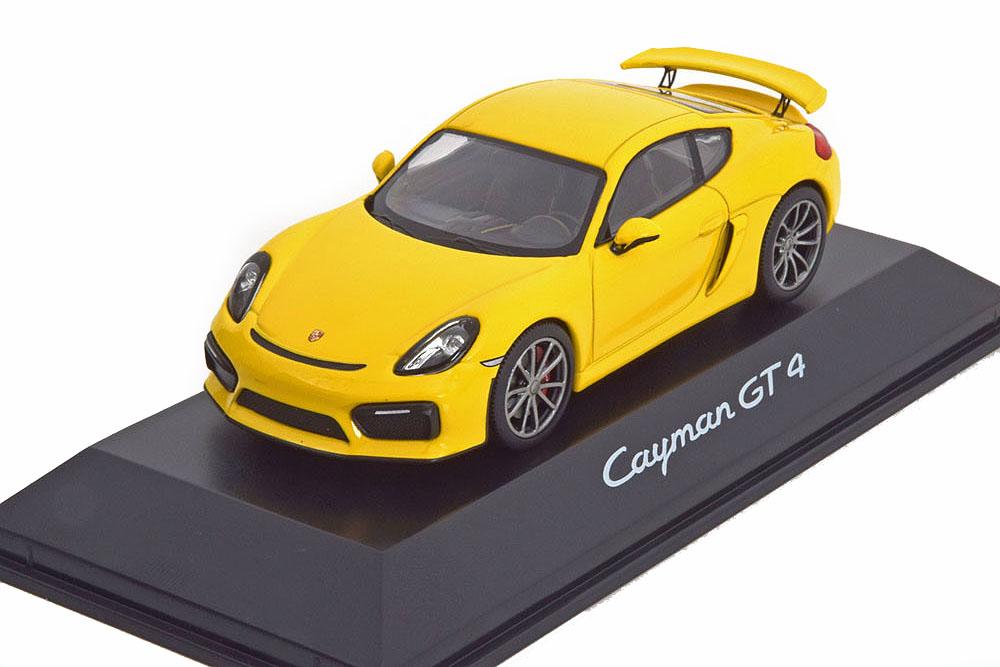 Dealer Porsche wap0204020f 1 43 Porsche Cayman (981c) gt4 2015 giallo