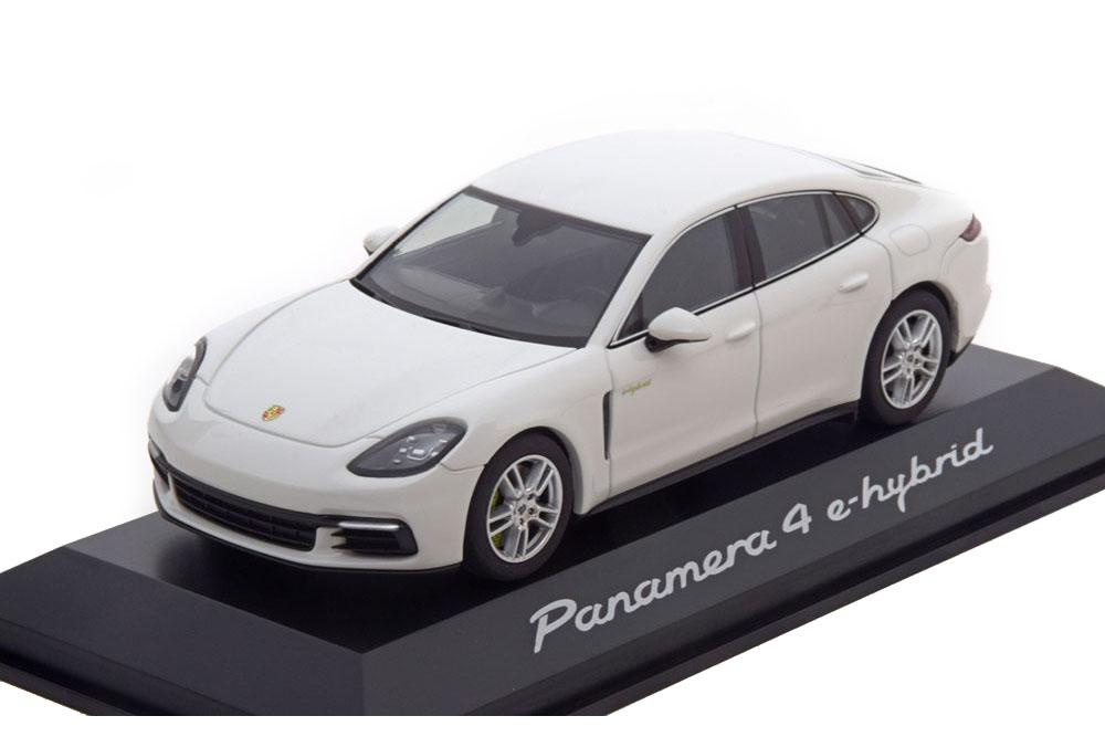 porsche panamera 4 e hybrid 2016 white special edition by porsche modellisimo com scale models. Black Bedroom Furniture Sets. Home Design Ideas