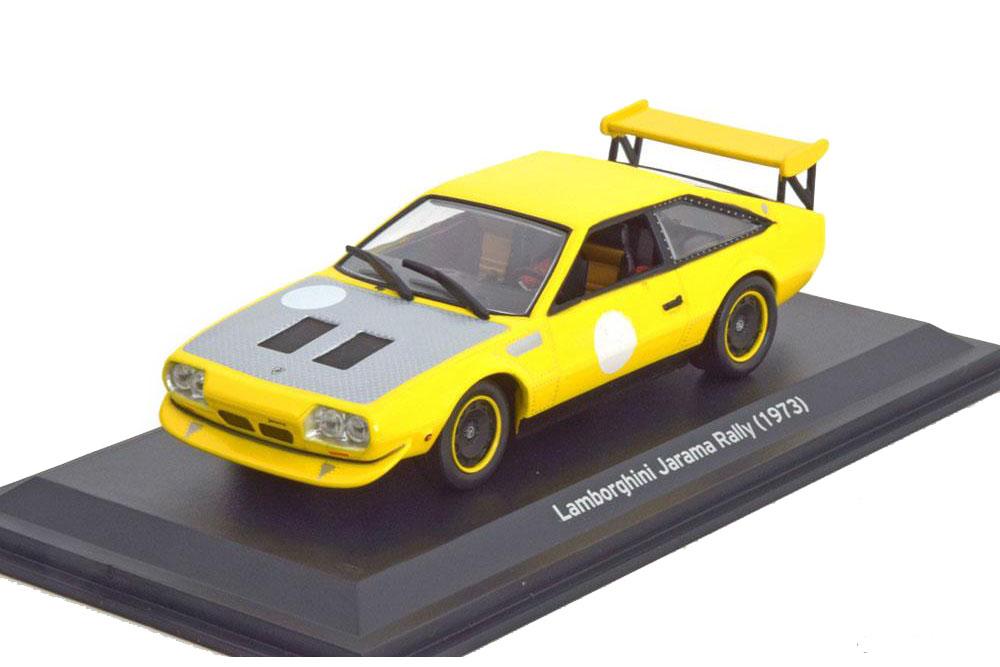 Lamborghini Jarama Rally 1973 Yellow Gray Modellisimo Scale
