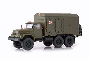 ZIL 131 DDA-3 AMBULANCE (USSR RUSSIAN) | ЗИЛ 131 ДДА-3 МЕДИЦНСКИЙ ХАКИ *ЗИЛ ЗАВОД ИМЕНИ ЛИХАЧЕВА