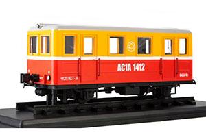 TRAIN AC-1A SUBWAY SPECIAL RAILCAR (USSR RUSSIA TRAINS) RED/YELLOW | АВТОМОТРИСА СЛУЖЕБНАЯ АС-1А *ПОЕЗД