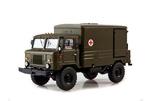GAZ 66 DDA-66 AMBULANCE (USSR RUSSIAN TRUCK) GREEN   ГАЗ-66 ДДА-66 *ГАЗ ГОРЬКОВСКИЙ АВТОЗАВОД ГОРЬКИЙ