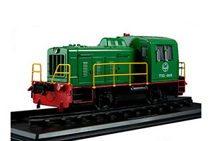 TRAIN TGK-2 (RUSSIA USSR) GREEN | ТЕПЛОВОЗ ТГК-2 *ПОЕЗД