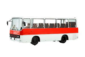 IKARUS 211 SHORT BASE IFA CHASSIS (HUNGARY) 1972 RED/WHITE | ИКАРУС-211 (ВЕНГРИЯ) НА БАЗЕ ШАССИ IFA *ЭКАРУС ИКАРУС