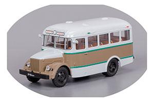 KAVZ 651 YALTA-SOCHI KURGAN BUS FACTORY 1958 BROWN/GREY (КАВЗ 651 ЯЛТА-СОЧИ КУРГАНСКИЙ АВТОБУСНЫЙ ЗАВОД КОРИЧНЕВО/СЕРЫЙ)