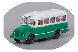 KAVZ 651 KURGAN BUS FACTORY 1958 GREEN/GREY (КАВЗ 651 КУРГАНСКИЙ АВТОБУСНЫЙ ЗАВОД ЗЕЛЕНЫЙ/СЕРЫЙ)