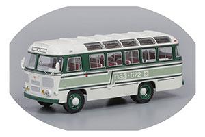 Pavlovsk Bus PAZ-672 1980 White/Green/Light Green Stripes