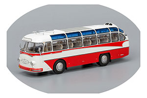 LAZ 697E Турист 1961 White/Red (ЛАЗ-697Е Бело-Красный)
