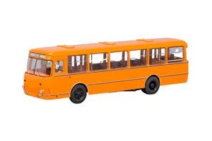 LIAZ 677M With Wheel 1967-2002 Orange (ЛиАЗ-677M Оранжевый С Запасным Колесом)