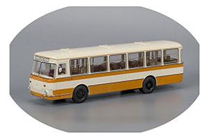 LIAZ 677M With Wheel 1967-2002 Beige/Yellow (ЛиАЗ-677M Бежево-Желтый С Запасным Колесом)