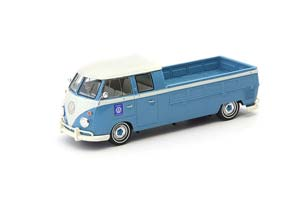VW T1 DOUBLE CABIN - PICK UP TRUCK BLUE-WHITE GERMANY 1963