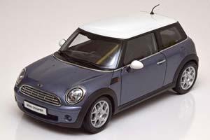 Mini Cooper Blue Gray Metallic/White