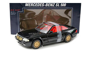 MERCEDES R129 SL-CLASS SL 500 1989 BLACK