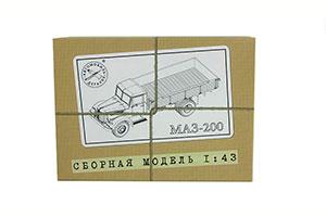 MODEL KIT MAZ-200 ONBOARD (USSR RUSSIA) | СБОРНАЯ МОДЕЛЬ МАЗ-200 БОРТОВОЙ