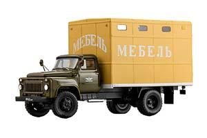 GAZ 53 WAGON GZSA-983A (USSR RUSSIA CAR) 1968 DARK GREEN WITH YELLOW | ГАЗ 53 ФУРГОН ГЗСА-983А 1968 ТЕМНО-ЗЕЛЕНЫЙ С ЖЕЛТЫМ *ГАЗ ГОРЬКОВСКИЙ АВТОЗАВОД ГОРЬКИЙ
