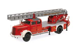 MERCEDES L 6600 AERIAL LADDER DL30 1950 RED/WHITE