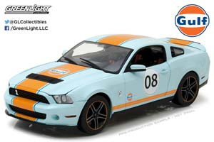 FORD MUSTANG SHELBY GT500 GULF 2012 LIGHT BLUE WITH ORANGE S...