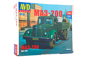 MODEL KIT MAZ-200 ONBOARD (USSR RUSSIAN CAR) | СБОРНАЯ МОДЕЛЬ МАЗ-200 БОРТОВОЙ
