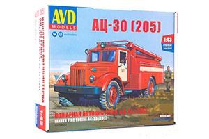 MODEL KIT AC-30 (205) (USSR RUSSIAN CAR) | СБОРНАЯ МОДЕЛЬ АЦ-30 (205)
