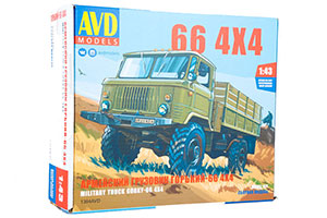 PLASTIC MODEL KIT ARMY TRUCK GORKY-66 4x4 (USSR RUSSIAN CAR)   СБОРНАЯ МОДЕЛЬ АРМЕЙСКИЙ ГРУЗОВИК ГОРЬКИЙ-66 4x4
