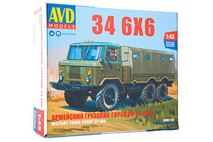MODEL KIT ARMY TRUCK 34 6X6 (USSR RUSSIAN CAR) | СБОРНАЯ МОДЕЛЬ АРМЕЙСКИЙ ГРУЗОВИК 34 6X6